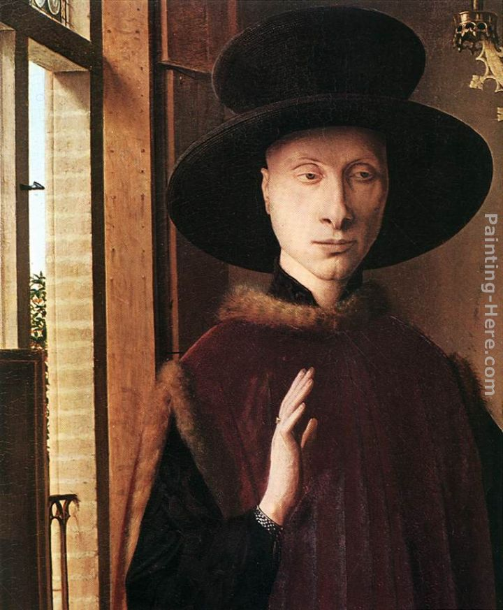 Portrait of Giovanni Arnolfini and his Wife [detail 1] painting - Jan van Eyck Portrait of Giovanni Arnolfini and his Wife [detail 1] art painting